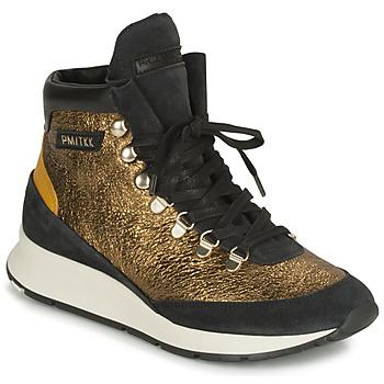 Cipők Női Magas szárú edzőcipők Philippe Model MONTECARLO Arany / Fekete