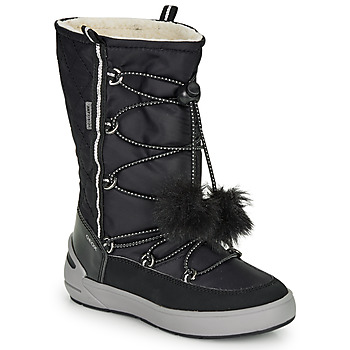 Cipők Lány Hótaposók Geox J SLEIGH GIRL B ABX Fekete