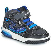 Cipők Fiú Magas szárú edzőcipők Geox J INEK BOY Fekete  / Kék