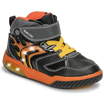 Cipők Fiú Magas szárú edzőcipők Geox J INEK BOY Fekete  / Narancssárga