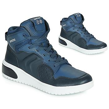 Cipők Fiú Magas szárú edzőcipők Geox J XLED BOY Kék / Led