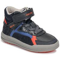 Cipők Fiú Magas szárú edzőcipők Geox J ARZACH BOY Kék / Narancssárga