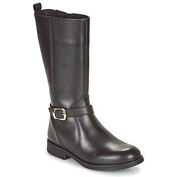 Cipők Lány Rövid szárú edzőcipők Geox JR AGATA Fekete