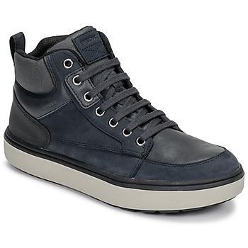 Cipők Fiú Magas szárú edzőcipők Geox J MATTIAS B BOY ABX Kék / Fekete
