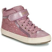 Cipők Lány Magas szárú edzőcipők Geox J KALISPERA GIRL Rózsaszín