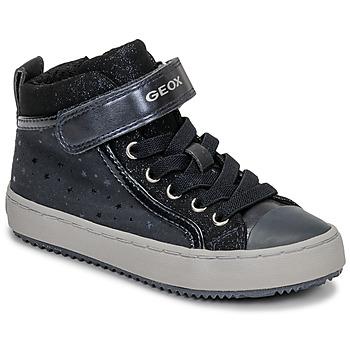 Cipők Lány Magas szárú edzőcipők Geox J KALISPERA GIRL Kék