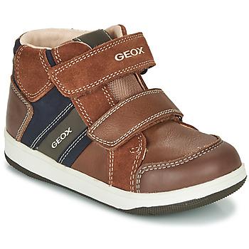 Cipők Fiú Magas szárú edzőcipők Geox B NEW FLICK BOY Barna / Kék