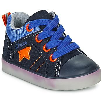 Cipők Fiú Magas szárú edzőcipők Chicco GRADO Kék