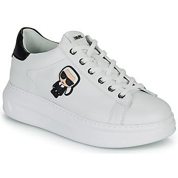 Cipők Női Rövid szárú edzőcipők Karl Lagerfeld KAPRI KARL IKONIC LO LACE Fehér / Fekete