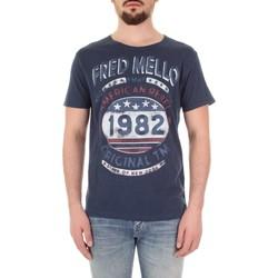 Ruhák Férfi Rövid ujjú pólók Fred Mello FM19S09TG Blu