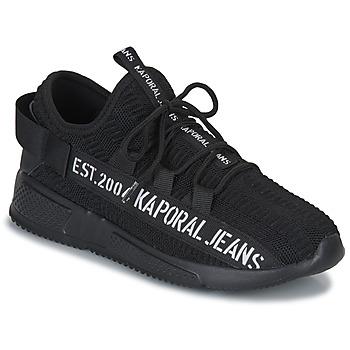 Cipők Férfi Rövid szárú edzőcipők Kaporal DOFINO Fekete