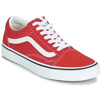 Cipők Rövid szárú edzőcipők Vans OLD SKOOL Piros