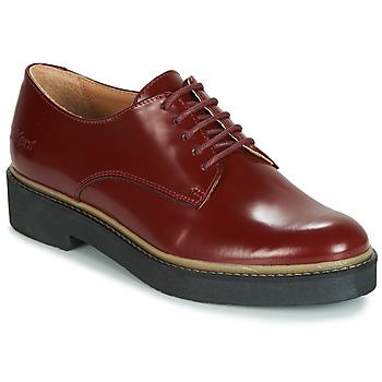Cipők Női Oxford cipők Kickers OXFORK Piros