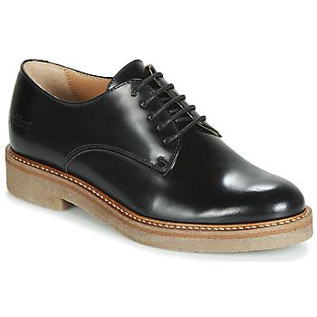 Cipők Női Oxford cipők Kickers OXFORK Fekete