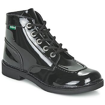 Cipők Női Csizmák Kickers KICK COL Fekete  / Lakkozott