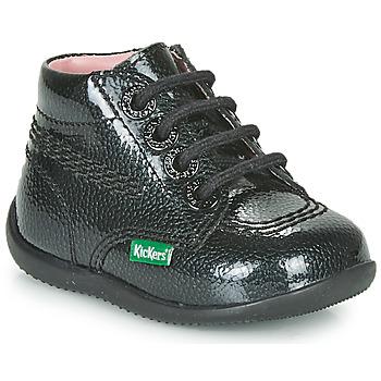 Cipők Lány Csizmák Kickers BILLISTA ZIP Fekete