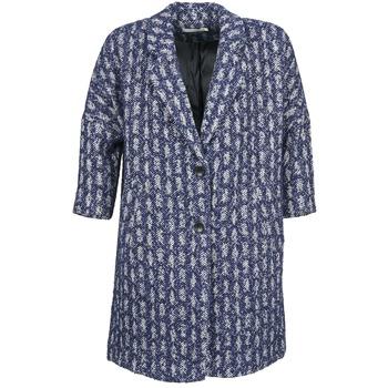 Ruhák Női Kabátok See U Soon RIFFLE Kék / Fehér