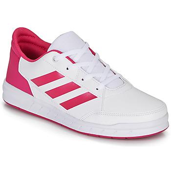 Cipők Lány Rövid szárú edzőcipők adidas Performance ALTASPORT K Fehér / Rózsaszín