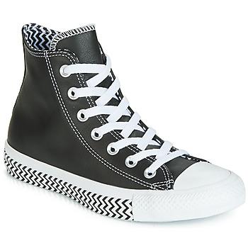 Cipők Női Magas szárú edzőcipők Converse CHUCK TAYLOR ALL STAR VLTG LEATHER HI Fekete