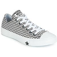 Cipők Női Rövid szárú edzőcipők Converse CHUCK TAYLOR ALL STAR VLTG LEATHER OX Fehér / Fekete