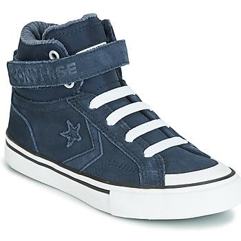 Cipők Gyerek Magas szárú edzőcipők Converse PRO BLAZE STRAP SPACE RIDE SUEDE HI Kék