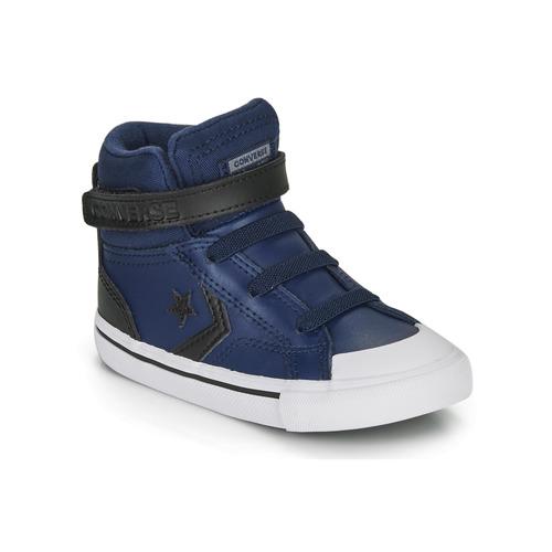 Cipők Gyerek Magas szárú edzőcipők Converse PRO BLAZE STRAP MARTIAN LEATHER HI Kék / Fekete