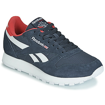 Cipők Rövid szárú edzőcipők Reebok Classic CL LEATHER MU Tengerész / Piros