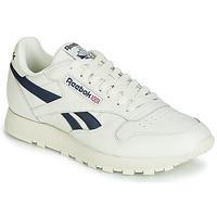 Cipők Rövid szárú edzőcipők Reebok Classic CL LEATHER MU Fehér / Fekete