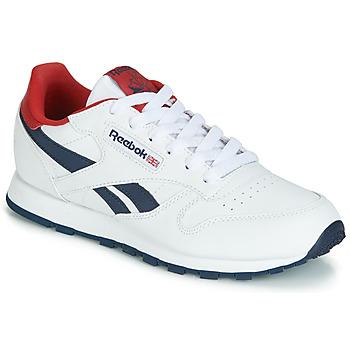 Cipők Gyerek Rövid szárú edzőcipők Reebok Classic CLASSIC LEATHER J Fehér / Piros