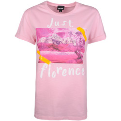 Ruhák Női Rövid ujjú pólók Roberto Cavalli  Rózsaszín