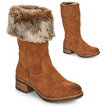Cipők Női Városi csizmák Rieker 96854-26 Teve