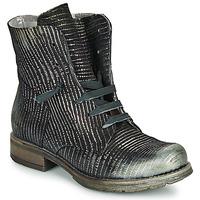 Cipők Női Csizmák Papucei MAURA BLACK SILVER Fekete