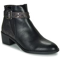 Cipők Női Csizmák Moony Mood FLOURETTE Fekete