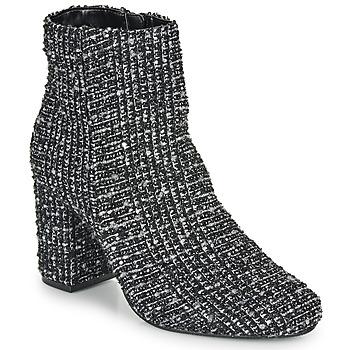 Cipők Női Bokacsizmák Moony Mood FRIPON Fekete  / Fehér