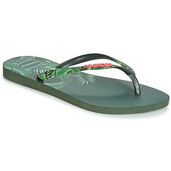 Cipők Női Lábujjközös papucsok Havaianas SLIM SENSATION Zöld
