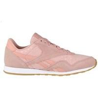 Cipők Női Rövid szárú edzőcipők Reebok Sport CL Nylon Slim Txt L Rózsaszín