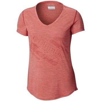 Ruhák Női Rövid ujjú pólók Columbia Trinity Trail 20 Rózsaszín