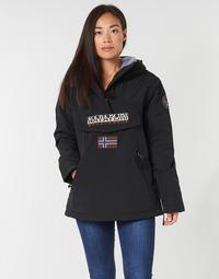 Ruhák Női Parka kabátok Napapijri RAINFOREST POCKET Fekete
