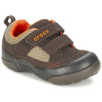 Cipők Fiú Rövid szárú edzőcipők Crocs DAWSON HOOK & LOOP Barna