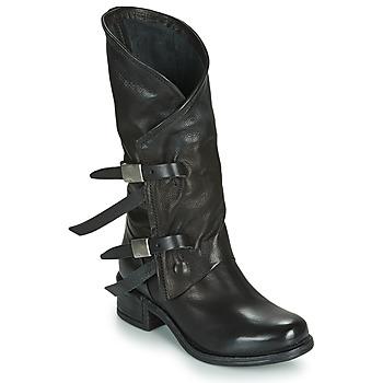 Cipők Női Városi csizmák Airstep / A.S.98 ISPERIA BUCKLE Fekete