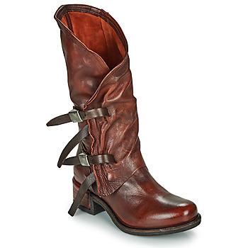 Cipők Női Városi csizmák Airstep / A.S.98 ISPERIA BUCKLE Piros