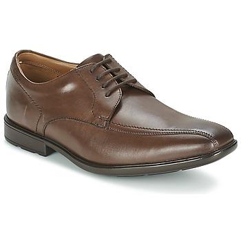 Cipők Férfi Oxford cipők Clarks GOSWORTH OVER Barna