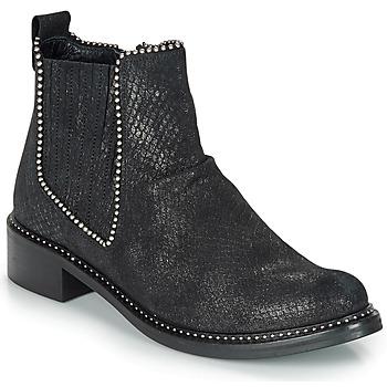 Cipők Női Csizmák Regard ROAL V1 CROSTE SERPENTE PRETO Fekete