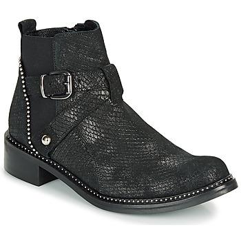 Cipők Női Csizmák Regard ROALA V1 CROSTE SERPENTE PRETO Fekete