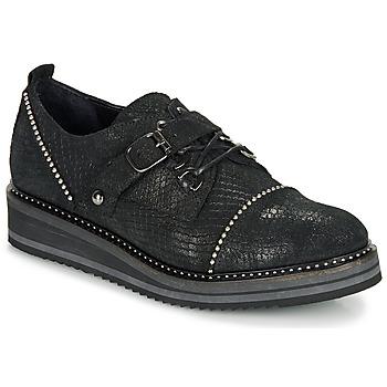 Cipők Női Oxford cipők Regard ROCTALOX V2 TOUT SERPENTE SHABE Fekete