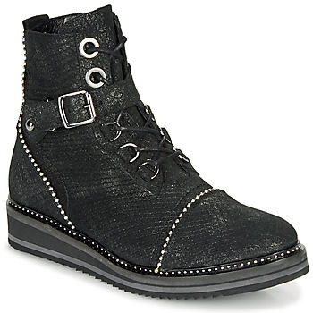 Cipők Női Csizmák Regard ROCTALY V2 CRTE SERPENTE SHABE Fekete