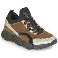 Cipők Női Rövid szárú edzőcipők Philippe Morvan VERSO V2 GLITTER FIN Barna / Fekete
