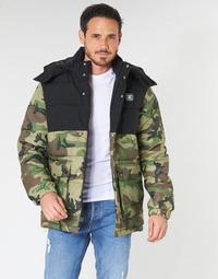Ruhák Férfi Steppelt kabátok DC Shoes STRAFFEN Fekete  / Camo