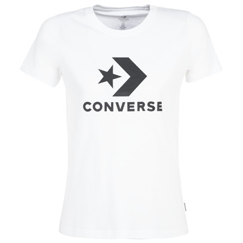 Ruhák Női Rövid ujjú pólók Converse STAR CHEVRON Fehér