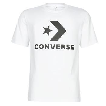 Ruhák Férfi Rövid ujjú pólók Converse STAR CHEVRON Fehér